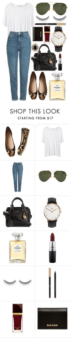 """""""Untitled #663"""" by clary94 ❤ liked on Polyvore featuring Kate Spade, Hope, Topshop, Linda Farrow, Alexander McQueen, Daniel Wellington, Chanel, MAC Cosmetics, shu uemura and Yves Saint Laurent"""