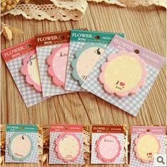 10pcs/lot Cute Kawaii Flower Memo Pad Sticky Note Paper Sticker Planner DIY Scrapbooking School Office Supplies Stationery 01803 #Affiliate