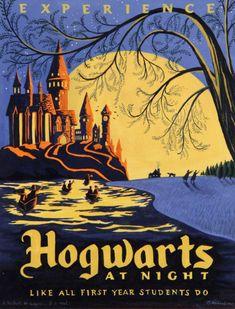 """Hogwarts """"vintage"""" poster"""