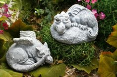 Baby Dragon Statue - Devious Devlin - Garden Decor Outdoor Art