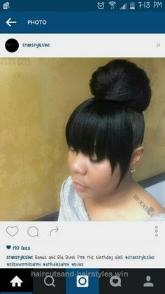 Look Over This Top Knot Bun With Bangs The post Top Knot Bun With Bangs… appeared first on Haircuts and Hairstyles .