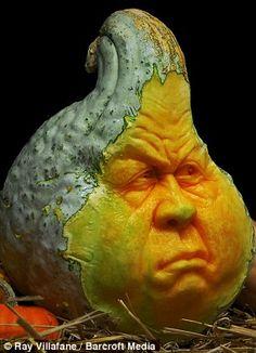Ray Villafane Pumpkin Art