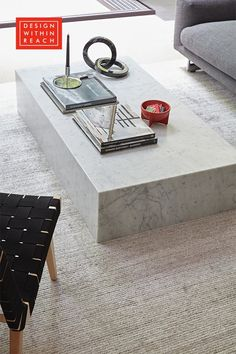 Plinth Extra-Large Coffee Table - Design Within Reach Coffee Table Styling, Diy Coffee Table, Coffee Table Design, Decorating Coffee Tables, Modern Coffee Tables, Plywood Furniture, Furniture Ideas, Modern Furniture, Extra Large Coffee Table