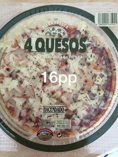 Pizza cuatro quesos Hacendado