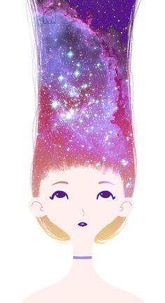 #galaxy#longhair#girl