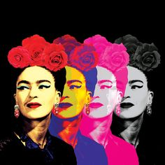 Fridas Black Canvas Artwork by Ana Paula Hoppe Canvas Artwork, Canvas Art Prints, Lino Prints, Block Prints, Art Fauvisme, Street Art, Frida And Diego, Diego Rivera Frida Kahlo, Frida Art