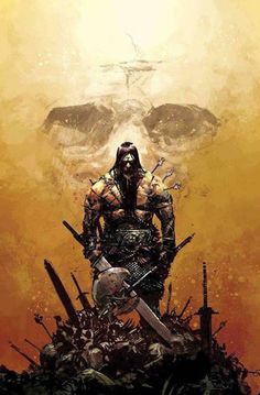 Conan arrives, the Guardians of the Galaxy re-form, Spider-Man gets a new comic and more, as Marvel celebrates the new year with new comics! Conan Der Zerstörer, Fantasy Warrior, Fantasy Art, Comic Books Art, Comic Art, Conan The Barbarian Comic, Barbarian King, Conan Der Barbar, Robert E Howard
