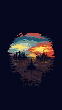 Dystopia Art Illustration Minimal #iPhone #5s #wallpaper