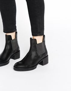 Image 1 of ASOS ROYALTY Leather Chelsea Ankle Boots