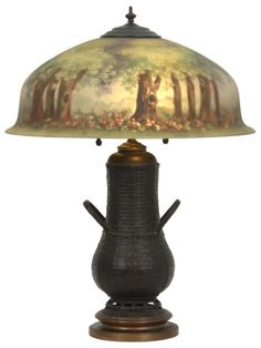 20 in. Pairpoint Reverse Painted Table Lamp