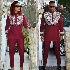 Sets - Dashiki Soft Material Embroidery Design Top With Pant
