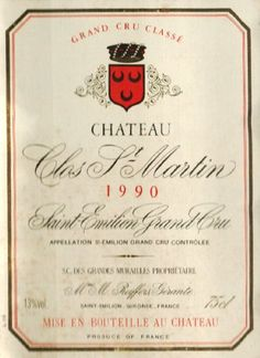 1990 Clos St Martin, Bordeaux 750 mL -- Read more reviews of the product by visiting the link on the image.