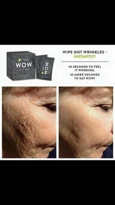 "WOW  WIPES OUT WRINKLES  WOW! . It seriously works. One application in the morning works all day.  Wipe Out Wrinkles and be WOWED in 45 seconds with It Works!  What I love about this product....you get immediate results within five minutes but it also works on long term results by reducing dark circles bags fine lines and tightening up facial skin!  Comment ""I'm In"" and lets get you WOWED!! - http://ift.tt/1HQJd81"