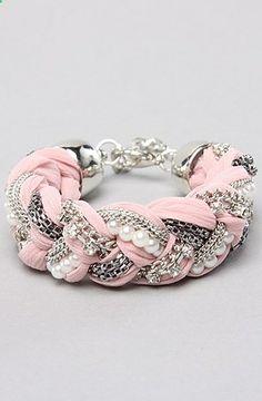 DIY braided bracelet. so pretty!