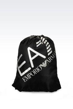 Men Backpack EA7 - TWO COLOUR HOBO BAG WITH LOGO EA7 Official Online Store Armani Store, Men's Backpack, Hobo Bag, Emporio Armani, Sportswear, Men's Fashion, Baseball Hats, Backpacks, Colour