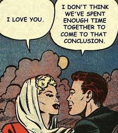 May be you're too empty or you just love me on We Heart It Retro Cartoons, Retro Humor, Funny Cartoons, Vintage Pop Art, Retro Art, Comic Art, Comic Books, Vintage Couples, Just Love Me