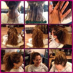 Ginger's locs are looking great. She had them for about a year now.   Style: Microlock Retight and Maintenance Client's Hair Type: 2c/3a Hair Added: NA Products Used: Coiled! by Conscious Coils (Original Refresher Spray)  Time: 3hrs 32mins Style Duration: retight every 6weeks  #consciouscoils #consciouscoilssalon #coiledbyconsciouscoils