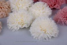 Χνουδωτά λουλούδια από ύφασμα – pom pom
