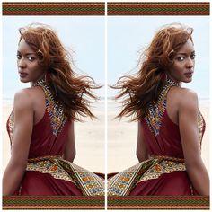 Gorgeous! Vlisco promoting the classic Angelina print