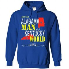 Alabama Man In A Kentucky World - #anniversary gift #sister gift. BUY-TODAY => https://www.sunfrog.com/States/Alabama-Man-In-A-Kentucky-World-2892-RoyalBlue-21412799-Hoodie.html?68278