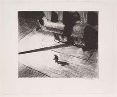 "Night Shadows    Edward Hopper (American, 1882–1967)  1921, published December 1924. Etching, plate: 6 15/16 x 8 1/8"""