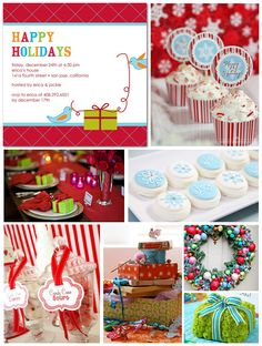 Colorful Christmas Party Inspiration Board