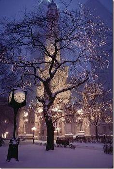 Как фотографировать новогодний город вечером.