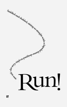 Run #ConcretePoetry #CaffeineAndConcrete #Typography
