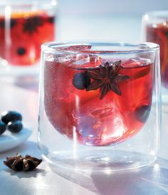 West Hollywood Punch - Not so sure about the star anise, but other than that...yummy! GREY GOOSE Vodka, red grape juice, fresh blueberries, grapes, citrus and star anise combine for famously fresh taste.