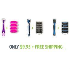 Men's or Women's Razor Bundle : $9.95 + Free S/H  http://www.mybargainbuddy.com/mens-or-womens-razor-pack-9-95-free-sh
