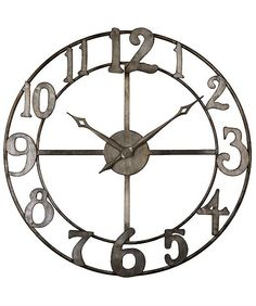 Uttermost Delevan Clock available at Macy's #clock #weddinggift #macys http://www1.macys.com/shop/wedding-registry/product/uttermost-delevan-clock-32?ID=661977&cm_mmc=BRIDAL-_-CARAT-_-n-_-BCPinterest