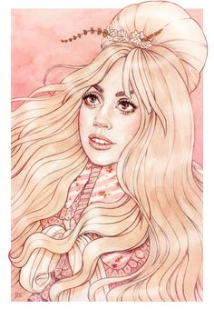 Lady Gaga in Berlin fanart by Helen Green