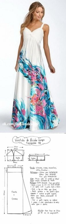 Выкройка летнего платья сарафана (Шитье и крой) | Журнал Вдохновение Рукодельницы