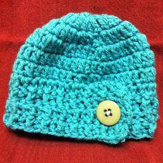 Crochet baby hat. Size 3 months.