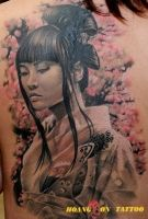 hình xăm geisha 21