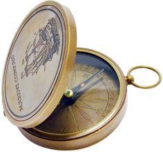 Brass pocket marine compass.