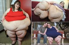 In early 2012, 33 years old, Susanne Eman of Arizona weighs 756 pounds (342kg) and hopes to more than double it to 1,610 pounds (730kg) to beat the current world record. To do so, she ate 22,000 cals. a day. On some days, she even ate 30,000 cals. However, the recommended daily caloric intake for an average person is 2,000 cals. MORE AT: http://www.malaysia-chronicle.com/index.php?option=com_k2=item=44590:i-eat-30000-calories-a-day-woman-on-quest-to-become-worlds-fattest=4