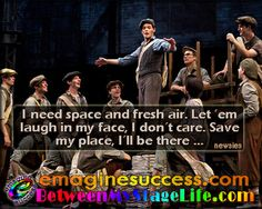 Bart's Broadway Bart-ism salutes our friends @Lauren Davison Moeller. Be bold. Be brave. Reserve your space. Make your presence known. #MyMomentInTime #ProudToBeMe #Newsies http://BetweenMyStageLife.com  http;//emaginesuccess.com