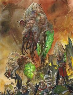 The enslavers. They are ancient (possibly even the very first) warp-based predators that enslave things. They caused the extinction of the Old Ones and forced the C'tan (and their necron toadies) to sleep by depriving them of their food source.