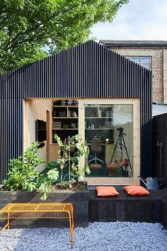 Lovely and Cute Garden Shed Design ideas for Backyard Part 7 ; garden shed ideas; garden shed organization; garden shed interiors; garden shed plans; garden shed diy; garden shed ideas exterior; garden shed colours; garden shed design Backyard Office, Backyard Studio, Modern Backyard, Outdoor Office, Small Garden Office, Shed Office, Garden Cabins, Garden Sheds Uk, Backyard Sheds