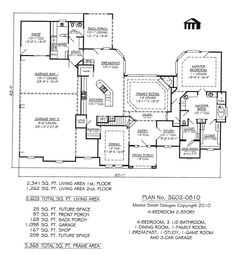 floorplan  onestory Luxury Style House Plans   Square Foot     story bedroom bath house plans   Google Search