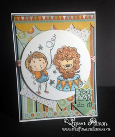 Deesigned by Larissa Pittman of Muffins and Lace using Kraftin Kimmie Stamp Dream Big