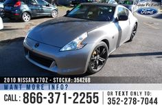 2010 Nissan 370Z - Coupe - V6 3.7L Engine - Alloy Wheels - Spoiler - Tinted Windows - Safety Airbags - Powered Windows/Locks/Mirrors/Driver Seat/Passenger Seat - Seats 2 - USB Port - Bluetooth - Push Button Start - Heated Front Seats - Cruise Control - Remote Keyless Entry - AM/FM/CD - Navigation and more!