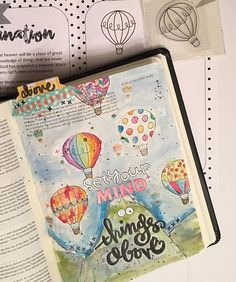 Bible Journaling by Ashley @magmagandme | Colossians 3:2