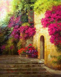 Paintings by Korean artist Dae Chun Kim