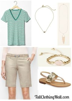 Summer Staples: Womens Tall Shorts and V-Neck Tees