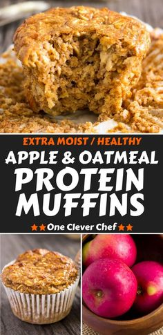 WMF Cutlery And Cookware - One Of The Most Trustworthy Cookware Producers I Love These Super Moist And Tender Apple Protein Muffins. This Delicious Snack Is Protein-Packed, 100 Healthy, Naturally Sweetened With Maple Syrup Could Be Replaced With Honey And Protein Muffins, Healthy Breakfast Muffins, Clean Eating Breakfast, Breakfast On The Go, Clean Eating Snacks, Healthy Eating, Apple Recipes Healthy Clean Eating, Eating Habits, Healthy Menu