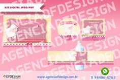 Kit Digital Personalizado com os dados da festa, nome da criança e as cores da festa. As artes são no formato JPEG/PDF em alta resolução para imprimir em casa ou na gráfica. A prova digital é enviada por e-mail para análise e aprovação do cliente e após essa etapa enviamos os arquivos por email em PDF ou JPEG.