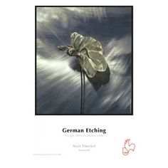 Hahnemuhle,  German Etching® 310 g/m² · 100% α-Cellulose · white LA TROVATE DA SHADES INTERNATIONAL, distributore uff.le Hahnemuhle. This heavyweight etching board is velvety smooth with a fine surface texture. German Etching® is one of the most popular media worldwide for artwork and photography.