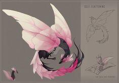 Cute Fantasy Creatures, Mythical Creatures Art, Cute Creatures, Magical Creatures, Creature Concept Art, Creature Design, Cute Animal Drawings, Cute Drawings, Wolf Drawings